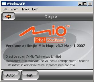 Versiunea MioMap instalata
