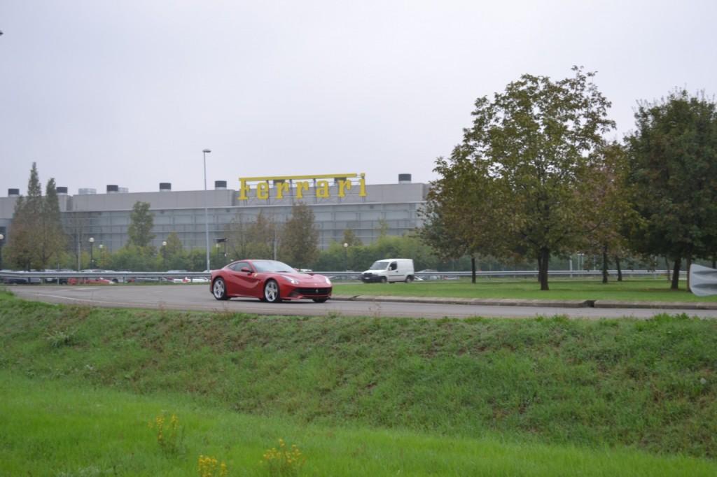 Ferrari F12 Berlinetta outside the factory